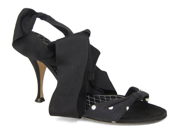 Dolce & Gabbana Black Wrap Shoes