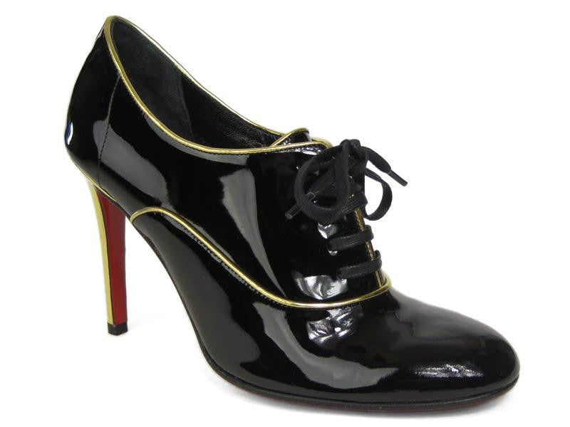 Christian Louboutin Black Patent Hung Up Bootie