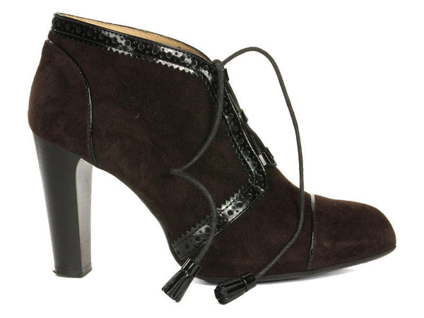 Tod's Suede Lace-Up Booties