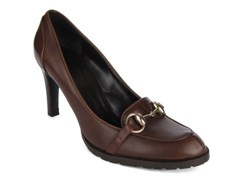 Gucci Brown Horsebit Pumps