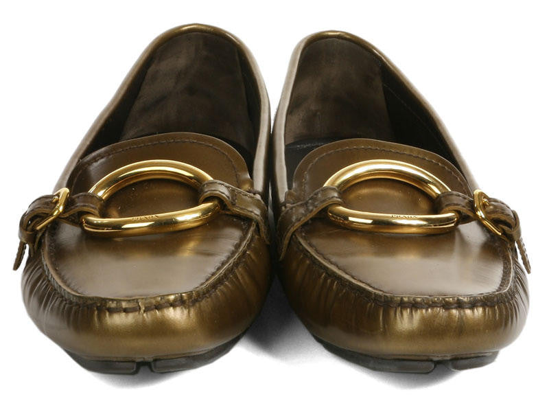 Prada Copper Driving Shoes