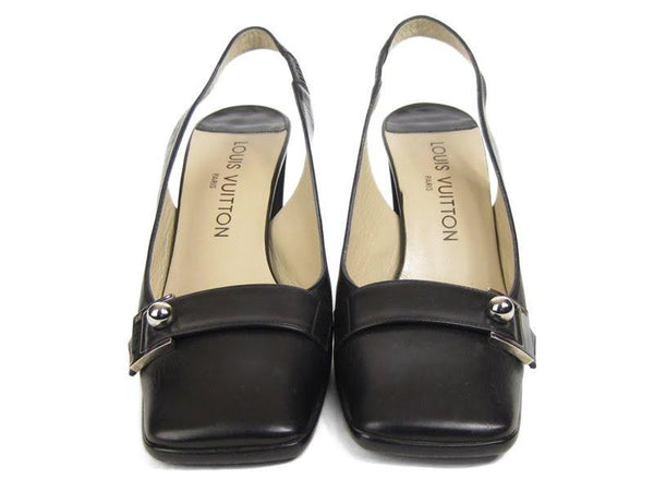 Louis Vuitton Black Slingbacks