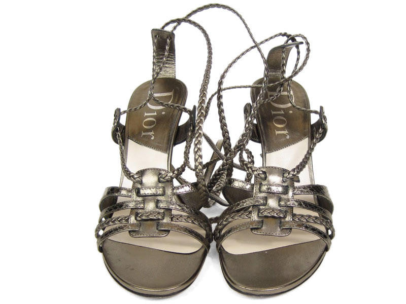 Christian Dior Pewter Diorantik Sandals