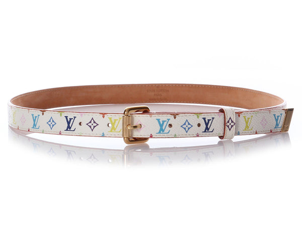 Louis Vuitton White Multicolore Belt