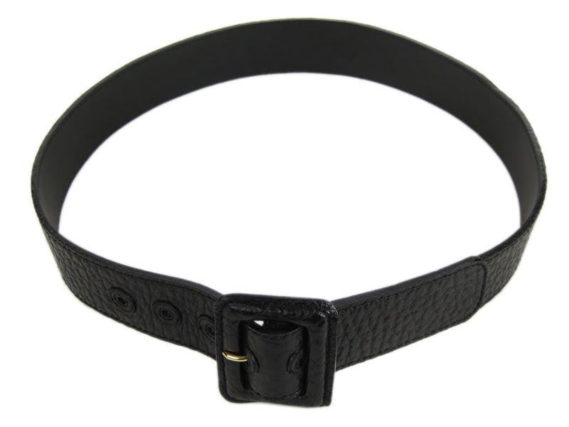 Louis Vuitton Black Leather Vienna Belt