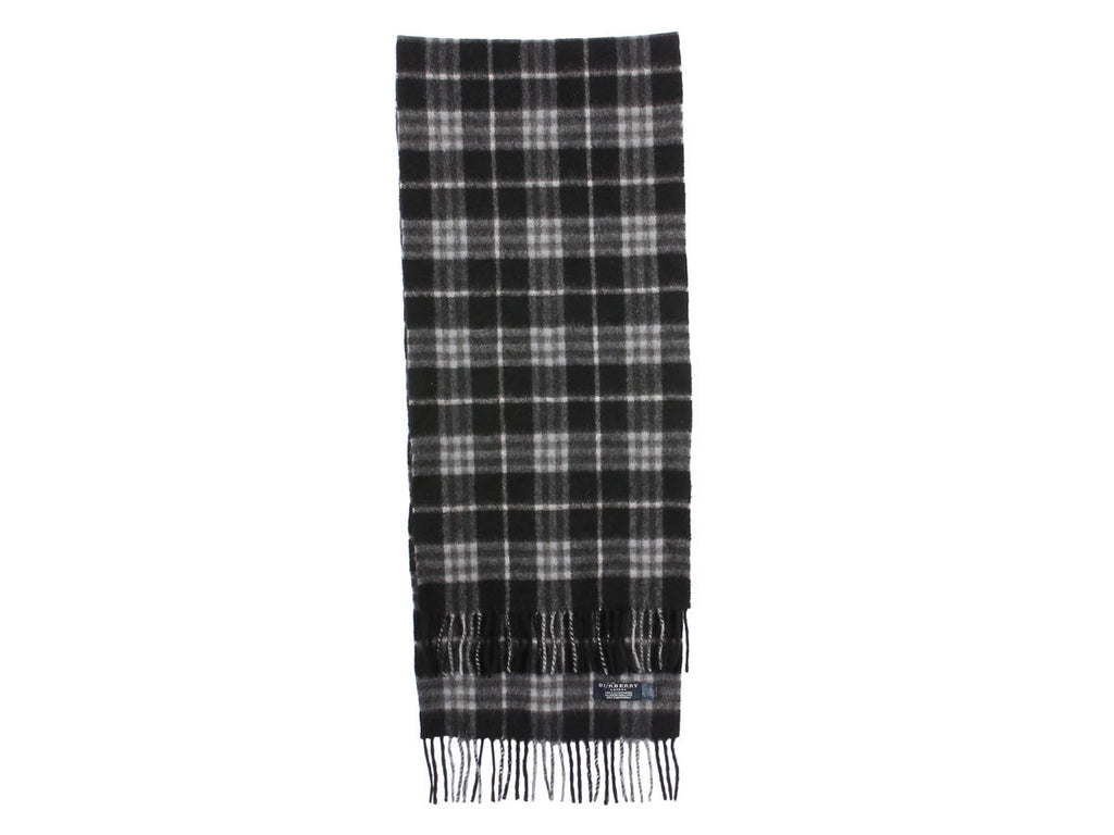 Burberry Black Check Scarf