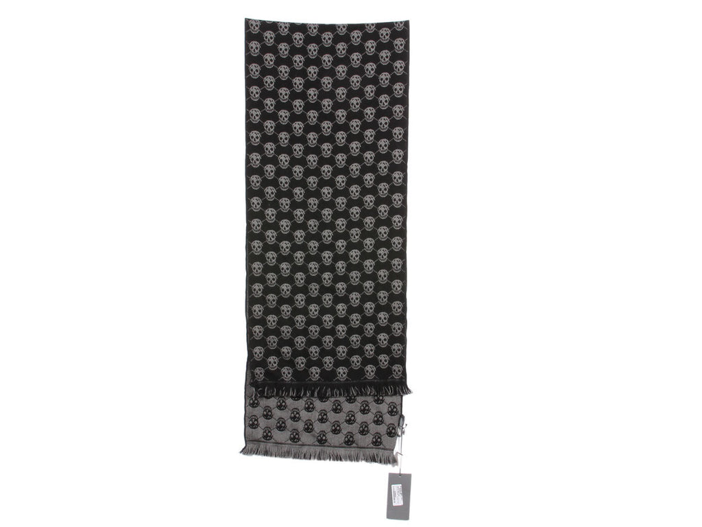 Alexander McQueen Black and Gray Diamond Muffler