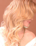 Virgin organic remi cuticle Full Lace loose Curl Wig colored blonde - Miss MyMy