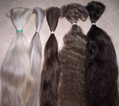 Natural Grey Hair Extensions - Miss MyMy
