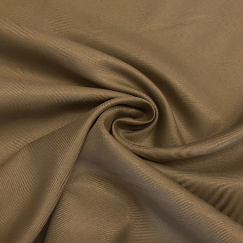 Light Brown  Cocoa color 65 polyester 35 cotton twill fabric 5.75 oz/square yard 75 cents a  yard