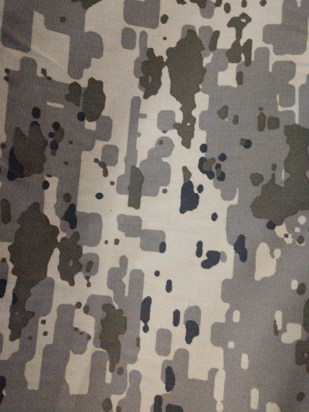 Israeli Defense Forces IDF Camouflage Nylon 50% Cotton 50% Sateen Twill Fabric $12.99 a yard Free Shipping