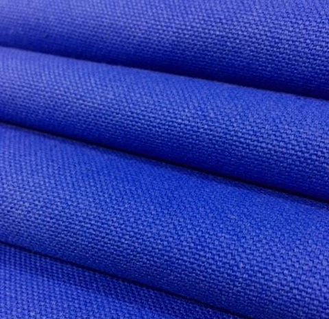 Royal Blue Color Mildew Resistant Duck 100% Cotton Canvas Fabric 60 inch wide $1.25 a yard