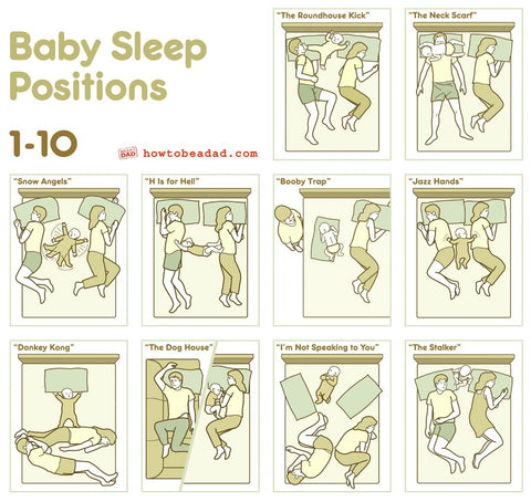 When Parents Sleep Together With Baby Funny Baby Sleep Positions Kneebees