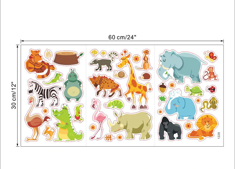 Nursery / Kids' Room Wall Decal - Jungle Animals