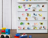 Nursery / Kids' Room Wall Decal - Animal Alphabet