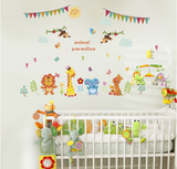 Nursery / Kids' Room Wall Decal - Animal Paradise
