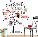 Any Room Wall Decal - Family Photo Frame Tree