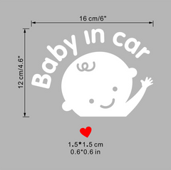 "Car Window Decal - ""Baby in Car""-Safety Products-KneeBees"
