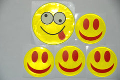 KneeBees Safe Reflective Smiley Face Stickers-Safety Products-KneeBees