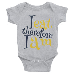 "Bodysuit ""I eat therefore I am"""