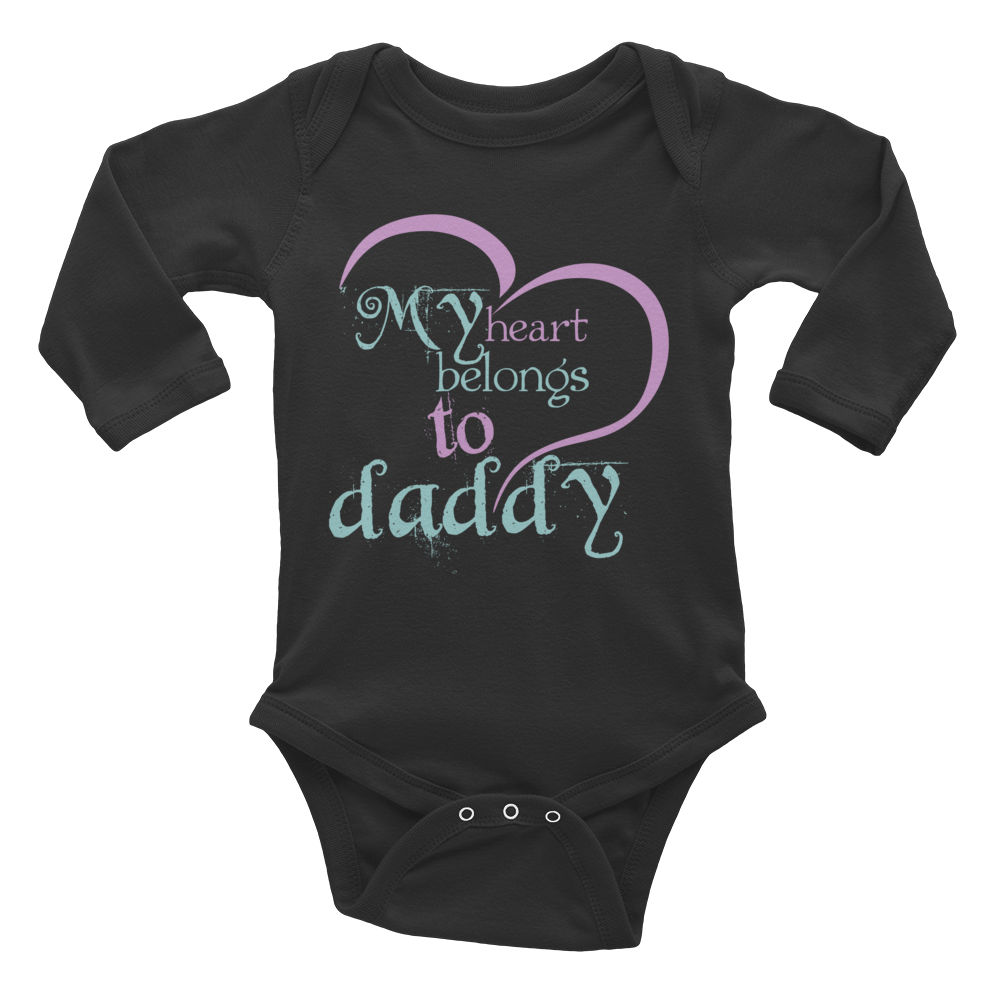 "Long Sleeve Bodysuit ""My heart belongs to daddy"""