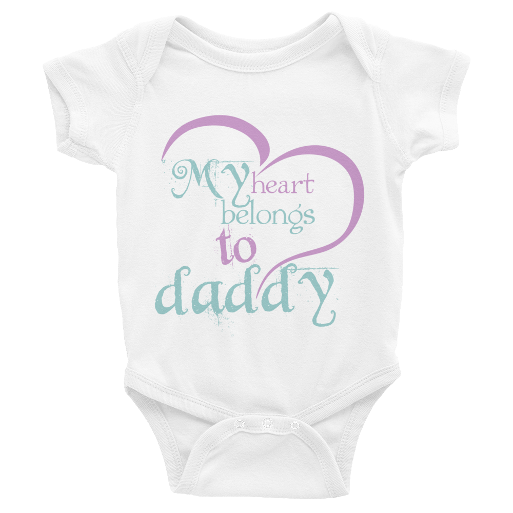 "Bodysuit ""My heart belongs to daddy"""
