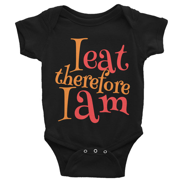"Bodysuit ""I eat therefore I am""-KneeBees"
