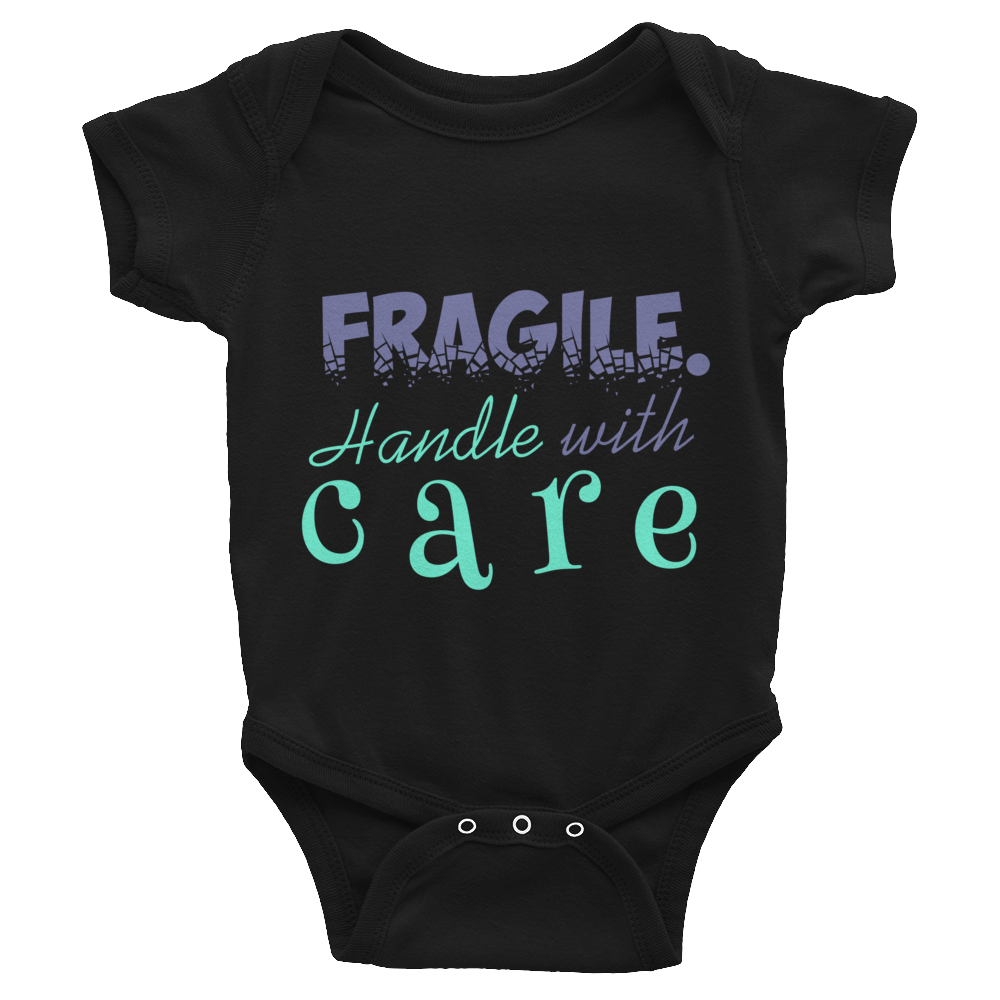 "Bodysuit ""Fragile. Handle with care"""