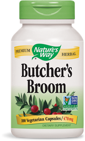 Butcher's Broom, 100 Vegetarian Capsules