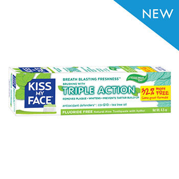 Kiss My Face Triple Action Cool Mint Gel, 4.5 oz.