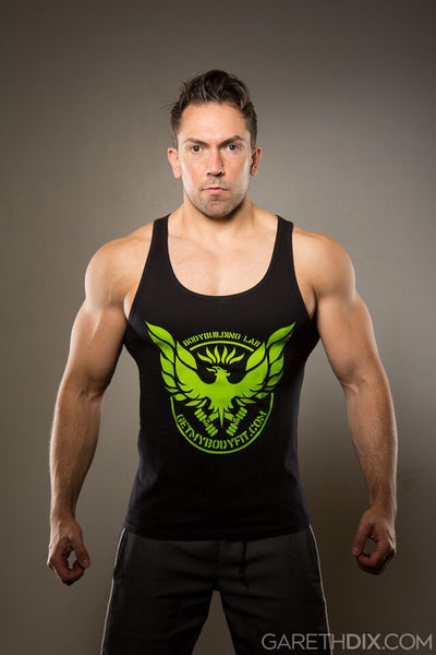 Mens Getmybodyfit HULK Green Logo Vest