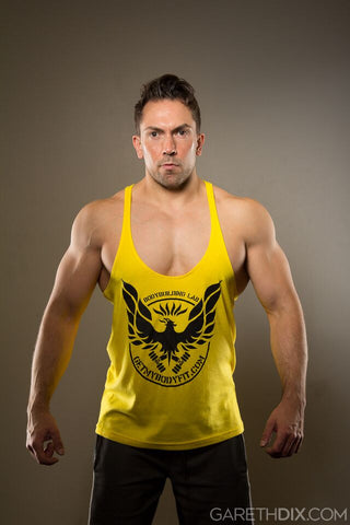 GetMyBodyFit Yellow Stringer Vest