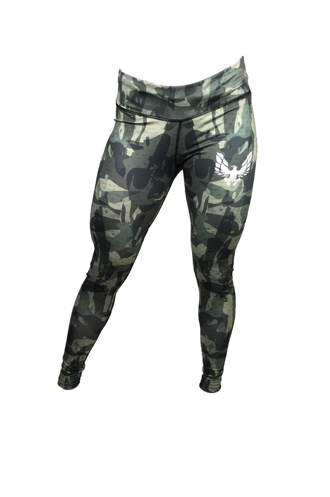8335d34e7c81c Women's green camo gym leggings - by getmybodyfit – Getmybodyfit