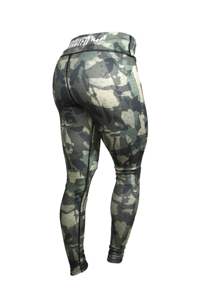 get my body fit green camo womens leggings