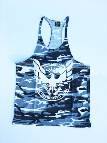 Grey camo Getmybodyfit stringer vest
