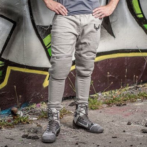 Biker Tapered Grey mens Joggers