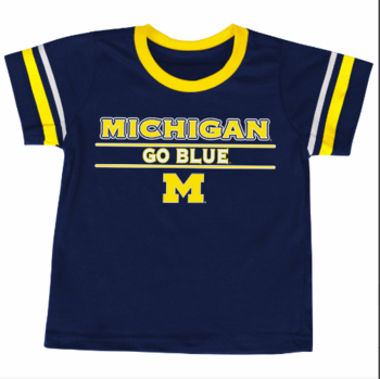 Michigan Infant Tackle S/S Tee - Navy/Maize