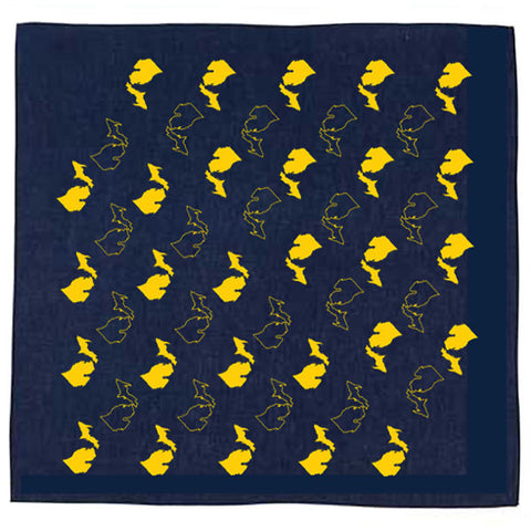Michigan Pattern Bandana - Navy