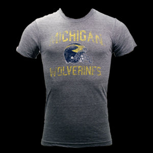 Michigan Faded Helmet - Athletic Grey