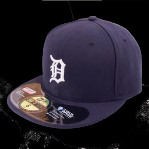 New Era Tigers 59Fifty Navy Home - Navy / White