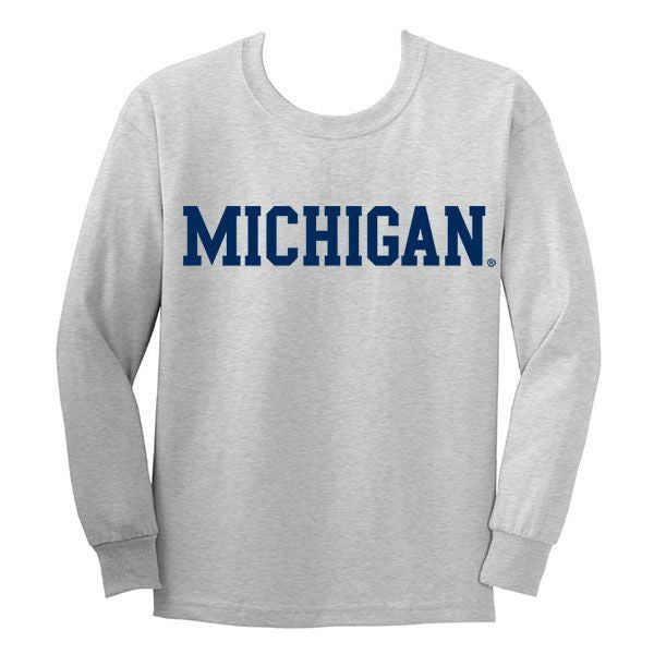 Michigan Basic L/S YTH - Sport Grey