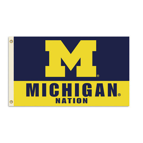 Michigan Nation 3x5 Flag - Navy