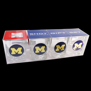 Block M Shot Glass 4pk - Clear