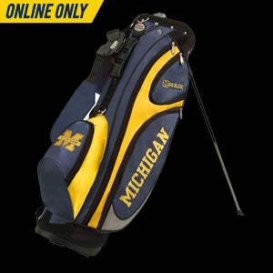 UM GridIron Golf Stand Bag  - Maize & Blue