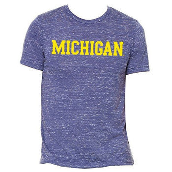 Michigan S/S Tee - Navy Marble