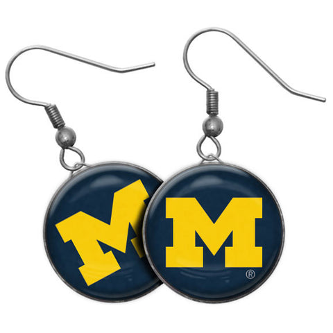 UM Drop Earrings 49365 - Navy/Maize