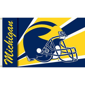 Michigan Helmet 3x5 Flag - Navy