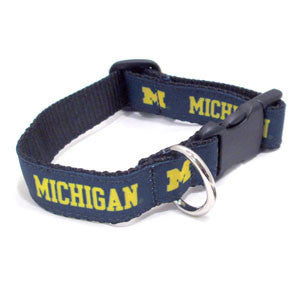 UM Dog Collar - Navy/Maize