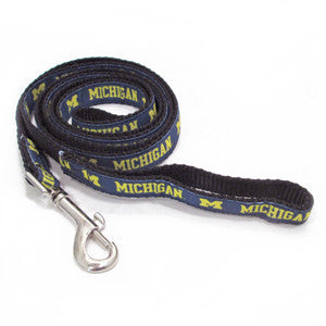 UM Dog Leash - Navy/Maize