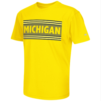 Michigan Youth Silver Bar S/S Tee - Maize